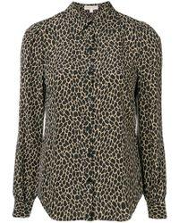 9f47e4427a03 Michael Kors Printed Pussy Bow Shirt - Lyst