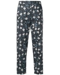 8pm - Floral And Stripe Print High Waist Trousers - Lyst