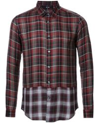 Hl Heddie Lovu | Panelled Checked Shirt | Lyst