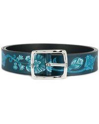 Etro - Branded Print Belt - Lyst