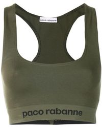 Paco Rabanne - Logo Racer Back Cropped Top - Lyst