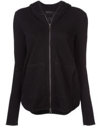 ATM - Hooded Zipped Cardigan - Lyst