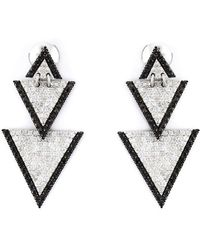 Elise Dray - Drop Triangle Diamond Earrings - Lyst