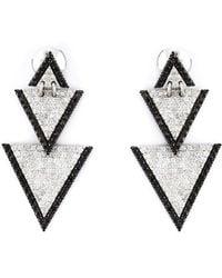 Elise Dray | Drop Triangle Diamond Earrings | Lyst