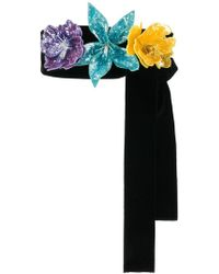Attico - Sequinned Floral Belt - Lyst