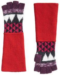Burberry - Geometric Fingerless Gloves - Lyst