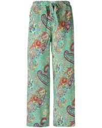 Etro - Paisley Print Trousers - Lyst