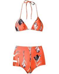 Giuliana Romanno - Printed Triangle Bikini Set - Lyst