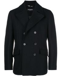 Dolce & Gabbana - Double Breasted Peacoat - Lyst