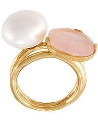 Wouters & Hendrix - 'my Favourite' Rose Quartz And Pearl Ring - Lyst