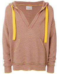 Laneus - Striped Hooded Jumper - Lyst