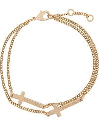 DSquared² - Cross Chain Bracelet - Lyst