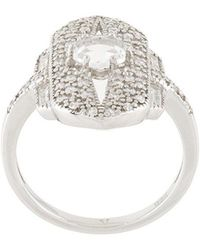 V JEWELLERY Shield ring - Metallic