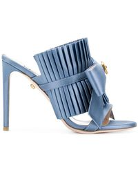 Fausto Puglisi - Pleated Bow Stiletto Sandals - Lyst