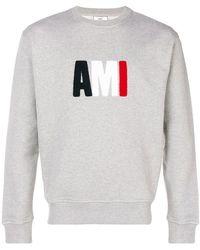 AMI - Sudadera con detalle Ami grande - Lyst