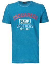 DSquared² - Camp Brothers T-shirt - Lyst