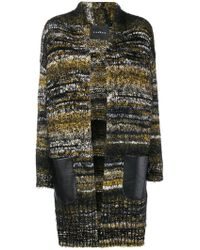 John Richmond - Chunky Knit Striped Cardigan - Lyst
