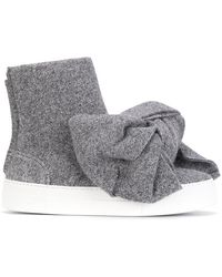 Joshua Sanders - Bow Detail Lurex Boots - Lyst