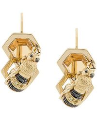 Delfina Delettrez - 9kt Yellow Gold To Bee Or Not To Be Earring - Lyst