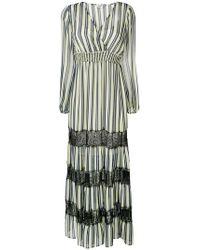 Liu Jo - Striped Maxi Dress - Lyst