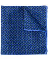 Canali - Carré de poche à carreaux - Lyst