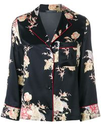Alexander McQueen - Floral Print Pyjama Shirt - Lyst