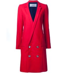 Julien David - Low Double-breasted Buttons Coat - Lyst