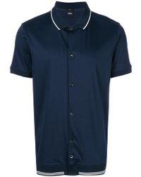 BOSS - Buttoned Polo Shirt - Lyst