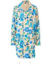 Marni - Floral Printed Coat - Lyst