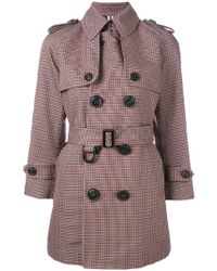 DSquared² - Lightweight Check Coat - Lyst