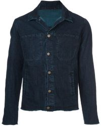 Ma+ - Button Denim Jacket - Lyst