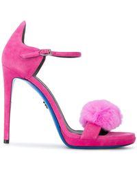 Loriblu - Fur Sandals - Lyst