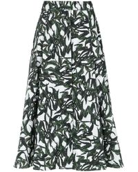 Andrea Marques - Patte Foliage Print Skirt - Lyst