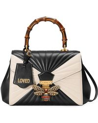 Gucci - Queen Margaret Quilted Leather Top Handle Bag - Lyst