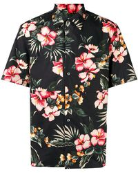 Valentino - Floral Pointed Collar Shirt - Lyst