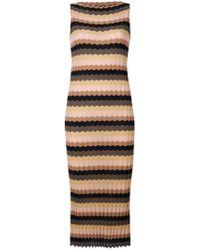 Roberto Collina - Fitted Zig-zag Stripe Dress - Lyst