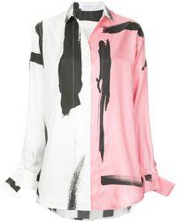 Christopher Esber - Painterly Stripe Loose Fit Shirt - Lyst