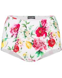 Dolce & Gabbana - High Waisted Floral Briefs - Lyst