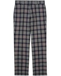 Burberry - Pantalones de vestir a cuadros con corte slim - Lyst
