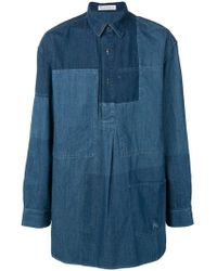 JW Anderson - Paneled Denim Shirt - Lyst