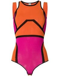 Pinko - Colour Block Bodysuit - Lyst