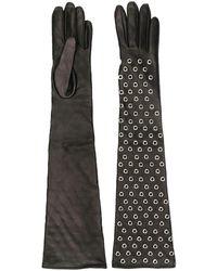 Manokhi - Eyelet Embellished Gloves - Lyst