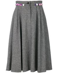 Olympia Le-Tan - Floral Applique Skirt - Lyst