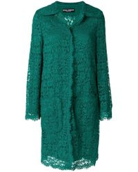 Dolce & Gabbana - Lace Detailed Coat - Lyst