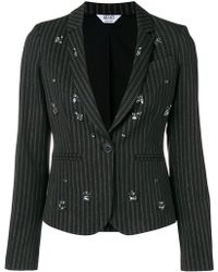Liu Jo - Crystal-embellished Striped Blazer - Lyst