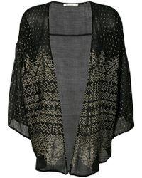 Mes Demoiselles - Benares Metallic Kimono Jacket - Lyst
