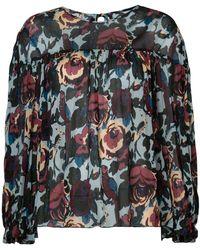 Anna Sui - Floral Print Blouse - Lyst