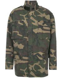 Yeezy - Oversized Camouflage Parka - Lyst