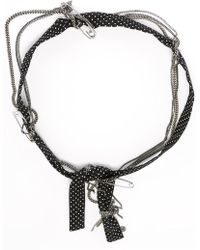 Maison Michel - Polka Dot And Chain Headband - Lyst