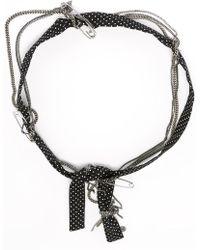 Maison Michel - Polka Dot And Chain Headband - Lyst